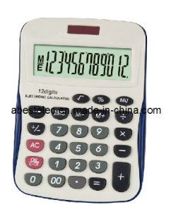 12 Digits Medium Desktop Calculator with Backface Function Ab-2622-12