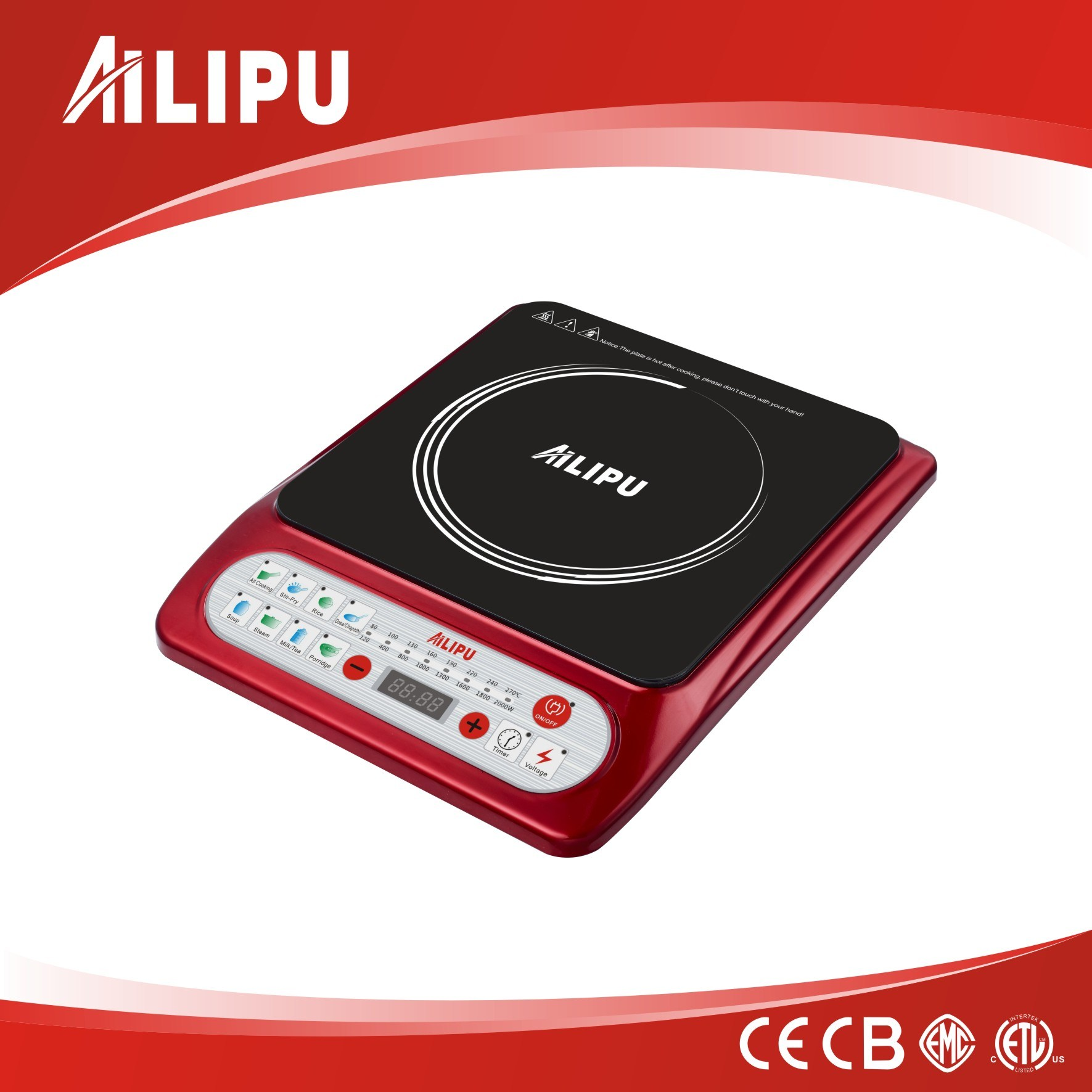 1500W ETL Approved Push Button Induction Cooktop Model Sm-A59