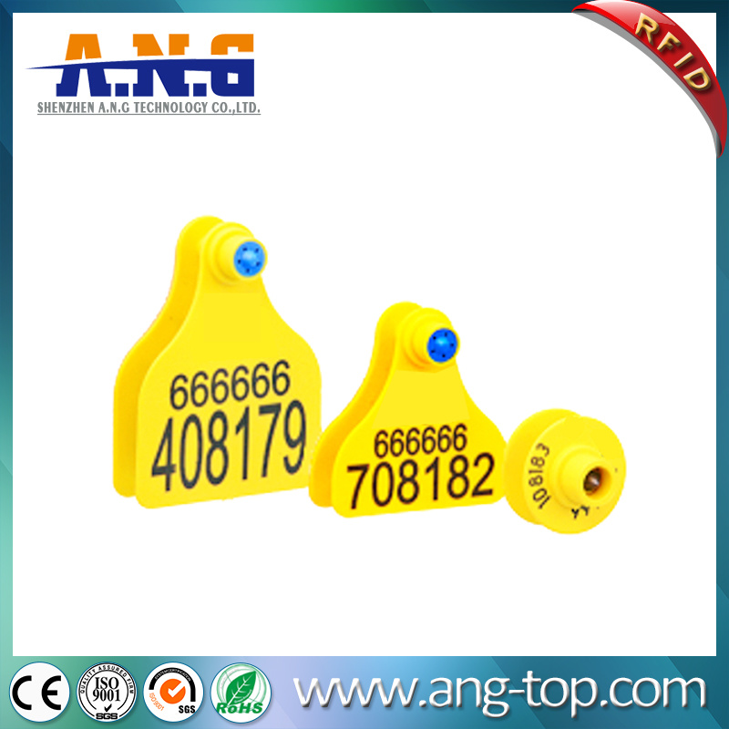 UHF RFID Animal Visual Ear Tags Accurate Trace Back Information