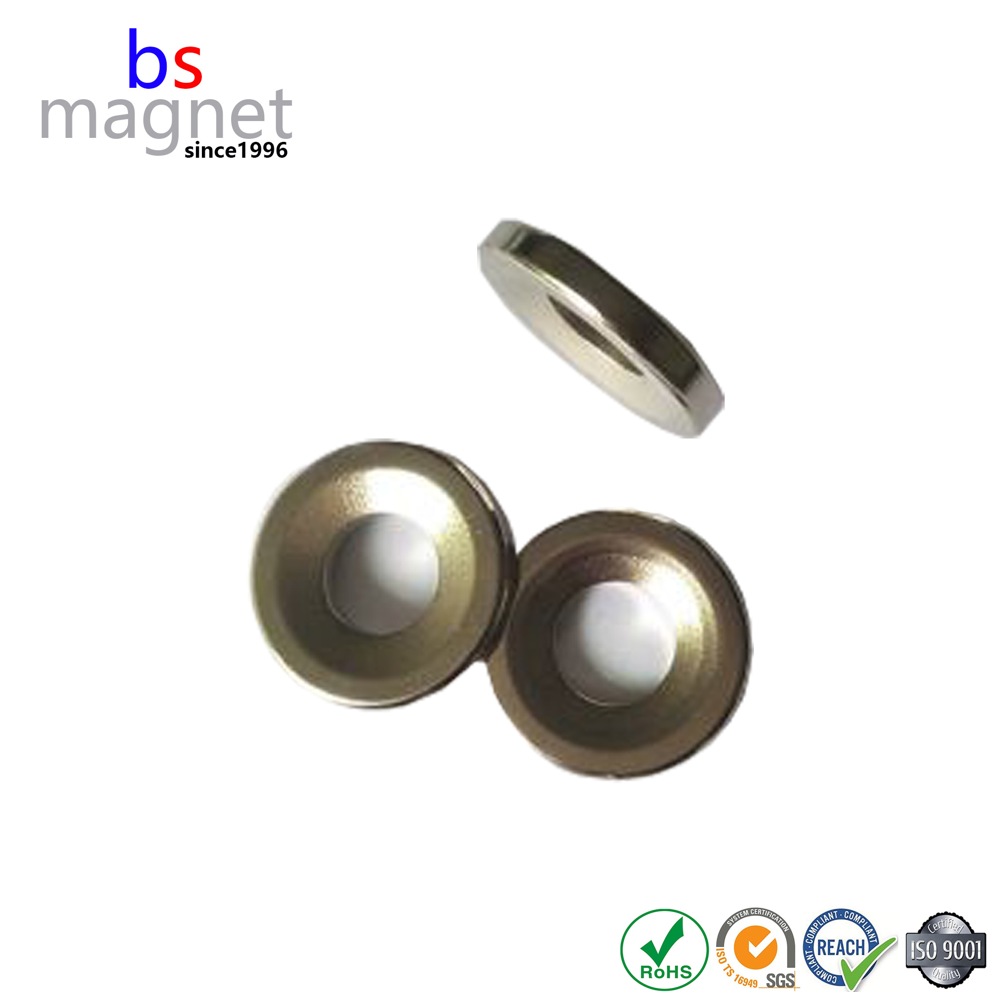 Cheap Permanent Strong Neodymium NdFeB Disc Magnets with Hole