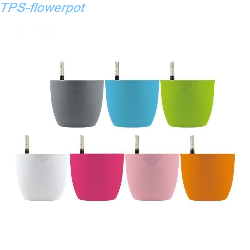 Automatic Water Absorbent Flower Pot with Water Level Gauge