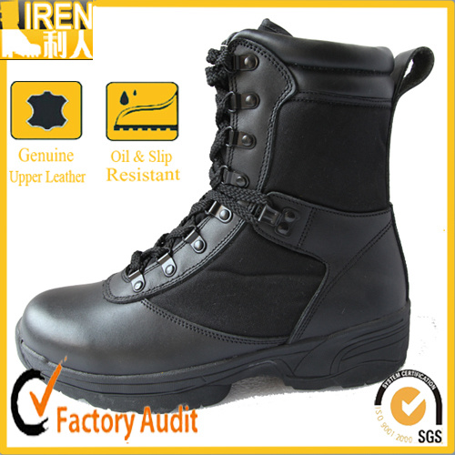 Black Genuine Leather Military Army Police Tactical Boot