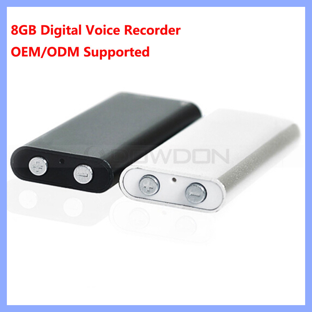 World Smallest 8GB Professional Digital Voice Recorder with MP3 Player Support OEM Logo
