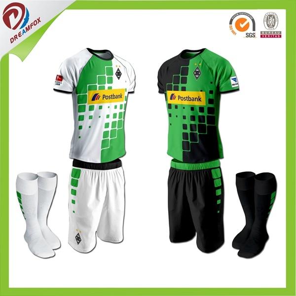 Custom Best Quality Soccer Uniform for Kid with 100%Polyester