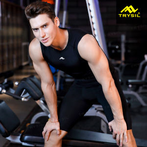 Mens Quickly-Drying T-Shirt & Shorts Sports Fitness Suit