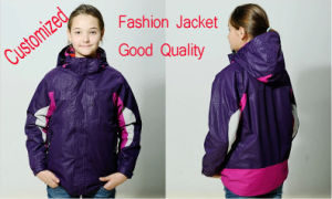 Customized Promotion Outdoor Good Quality Garment, Girl?s Jacket, Windproof and Waterproof Breathabl