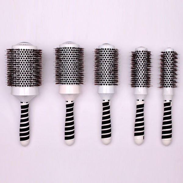 Round Thermal Hair Brush Set, Professional Nano Ceramic & Ionic Barrel Hair Styling Blow Drying Curl