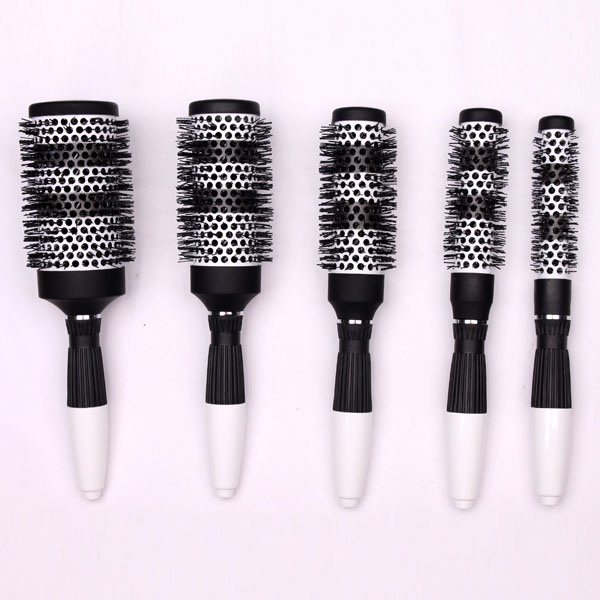 Professional Nano Ceramic & Ionic Barrel Hair Styling Blow Drying Curling Brush