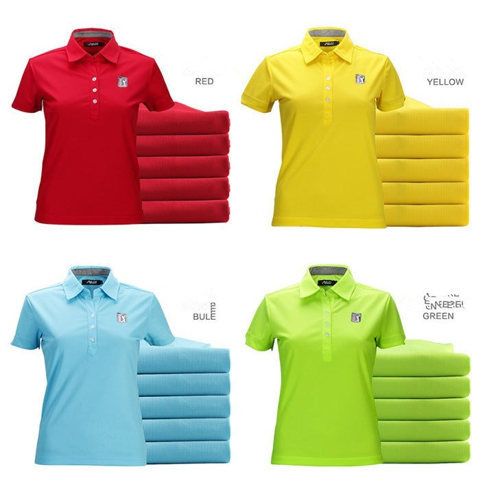 Logo Embroidered 100% Polyester Dri Fit Pique Golf T Shirt
