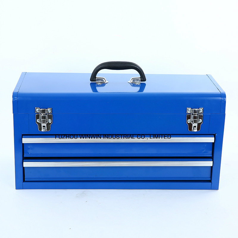 Professional Hand Held Steel Toolbox with 2 Slide Drawers (WW-TB601B)