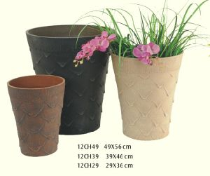 Wooden Look UV Protective Flower Pot Wholesale 12CH Serials - Greenship