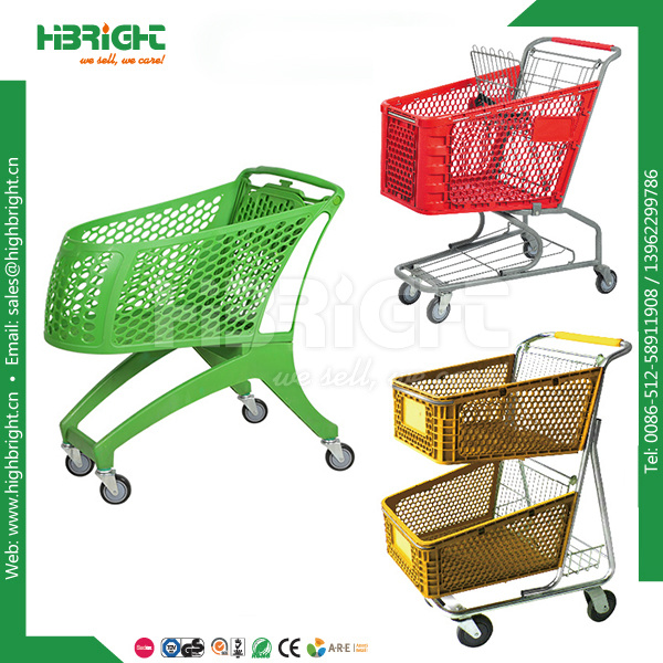 Supermarket Shopping Trolley Cart with Coin Lock