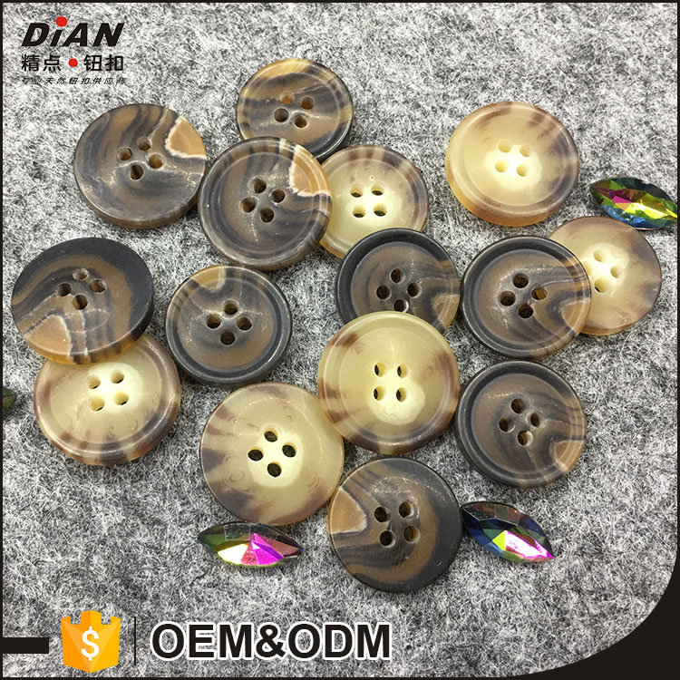 Plastic Horn Buttons for Suits Resin Rod Suit Buttons for Pants