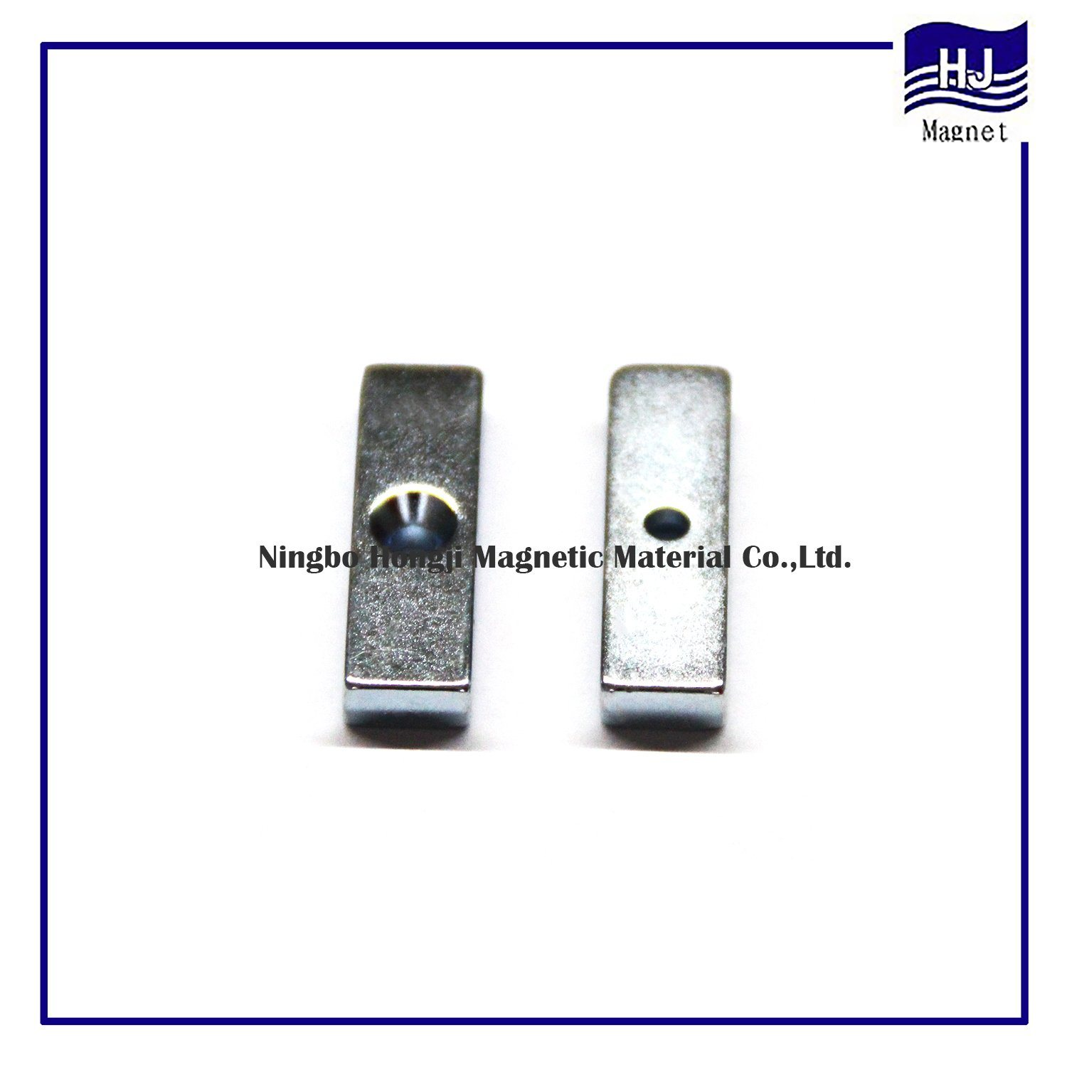 Hole Square Block Neodymium NdFeB Magnet with High Quality Strong Power