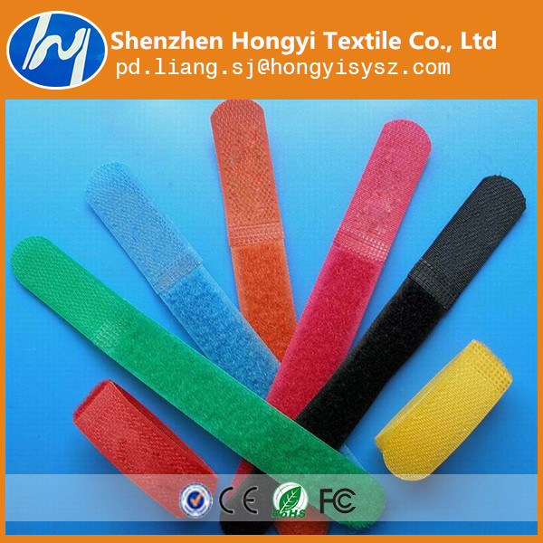 Wholesale Colorful Wide Using Self-Locking Magic Tape Cable Tie