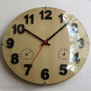 Home Decor Round Glass Clock Stained Glass Wall Clock