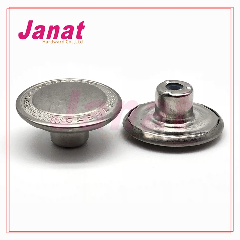 Dull Silver Color Brass Metal Button for Jeans
