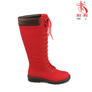 2018 Classic PU Knee-High Rain Boots Women Shoes (BT731)