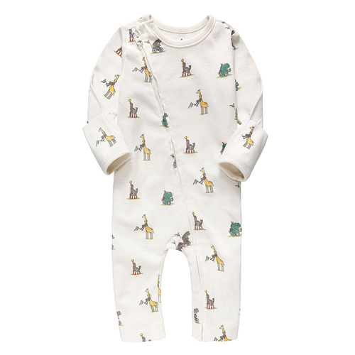 Hot Selling Printed Animal Long Sleeve Baby Onesie