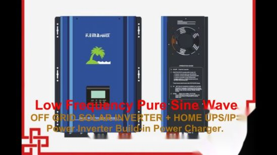 Low Frequency LCD Power Inverter Charger Home UPS with AVR
