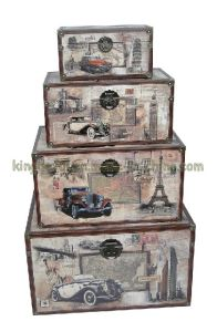 Leather Storage Trunk (SJ08536)