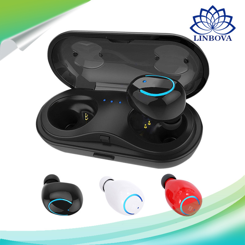 Tws Wireless Earbuds Stereo Bluetooth Earphones with Built-in HD Mic and Charging Case