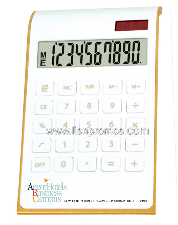 Hotel Logo Promotion Campaign Gift 10 Digits Solar Power Office Calculator