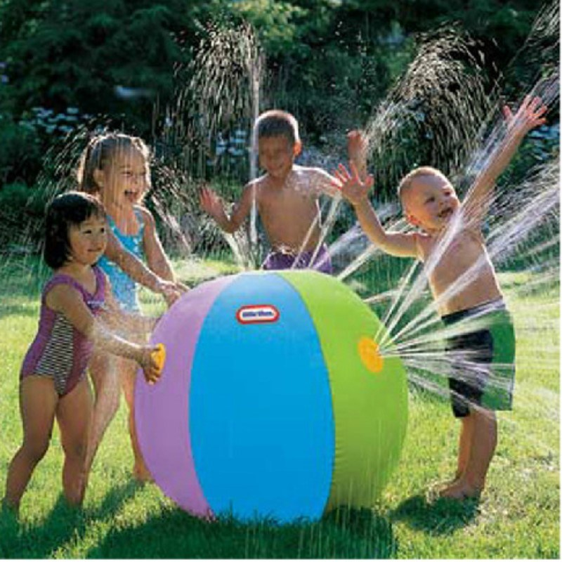 75cm Inflatable Spray Water Ball Children Summer Outdoor Toy