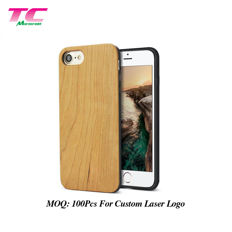2019 New Trends Dust-Proof Smart Cellphone Bamboo Case Luxury Wood Mobile Phone Case Cover for iPhon