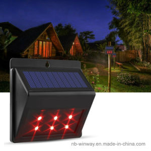 Solar Powered LED Predator Deterrent Light Animal Repeller Sensor Lamp