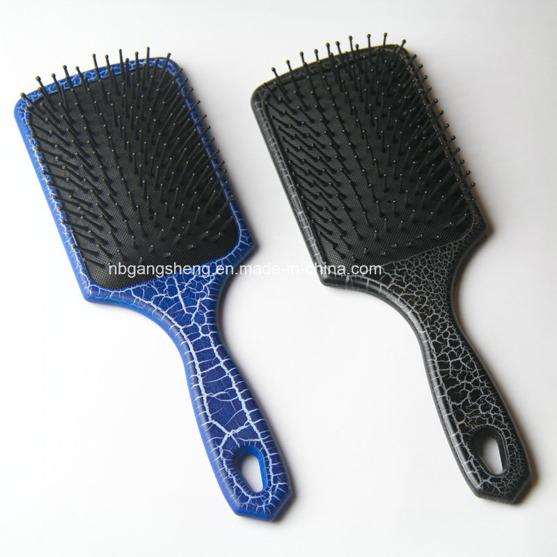 Crackle Painting Paddle Hair Brush with Cushion for Supermarket