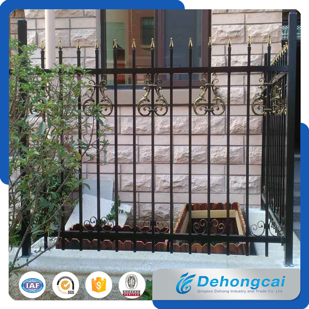 Beautiful Economical Residential Wrought Iron Fence (dhfence-17)