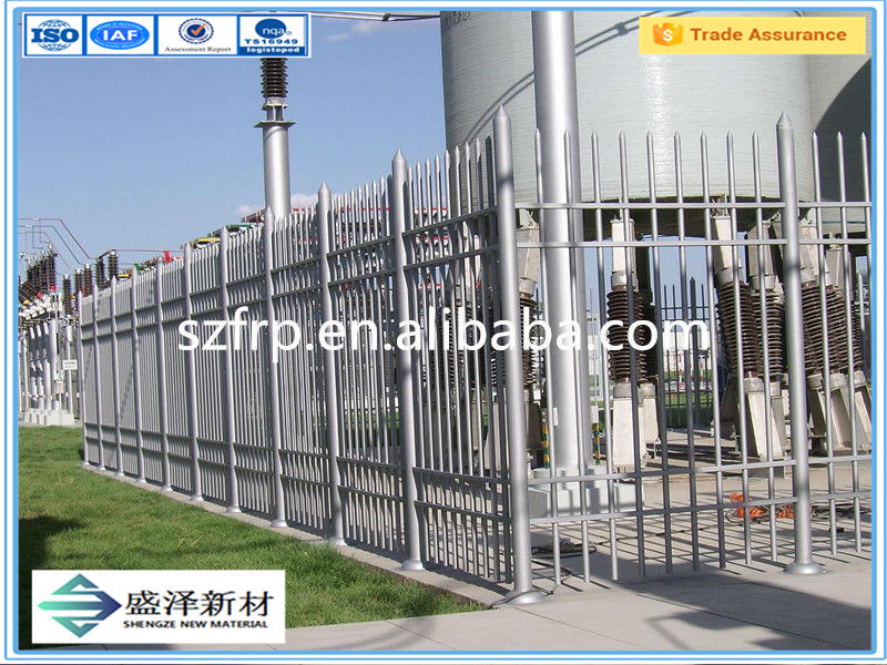 FRP Fence Decorative Metal Garden Edging Fiber Glass Fence