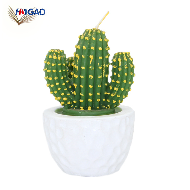 Best Choice OEM ODM Products New Idea Wholesale Paraffin Cactus Candle Favors
