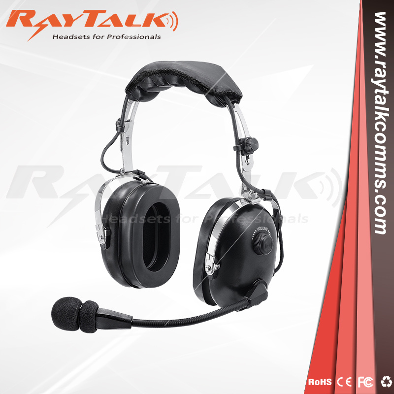 Heavy Duty Two Way Radio Wired Headphone Walkie Talkie Headset