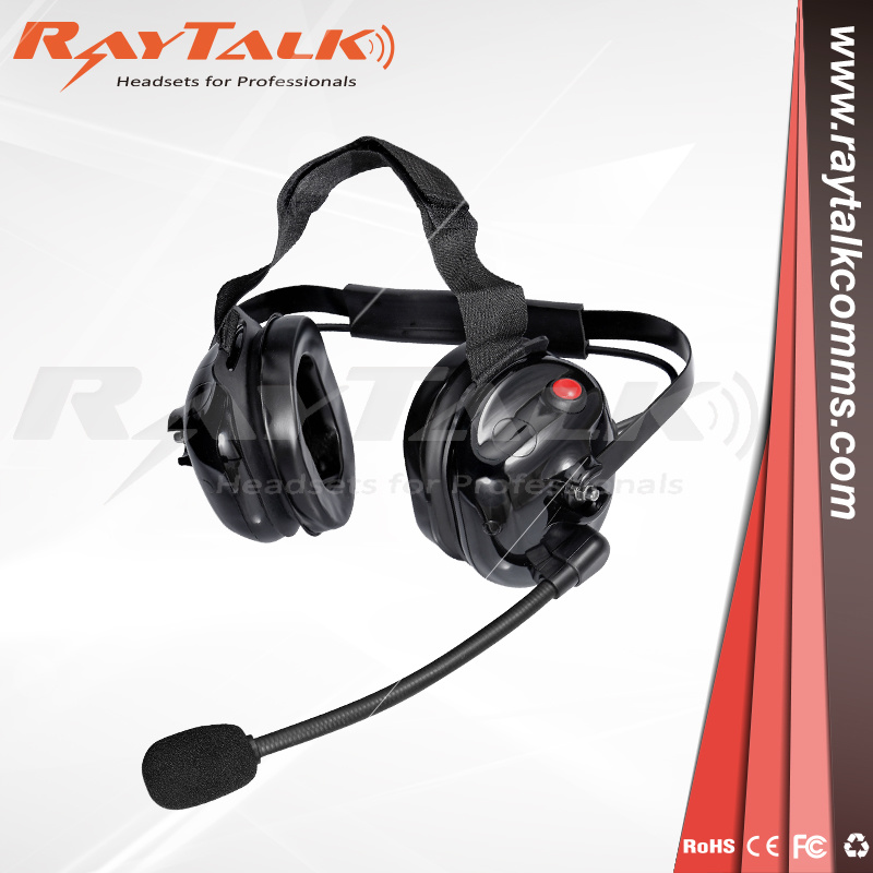 Behind The Head Two Way Radio Noise Cancelling Heavy Duty Headset for Motorola Walkie Talkie