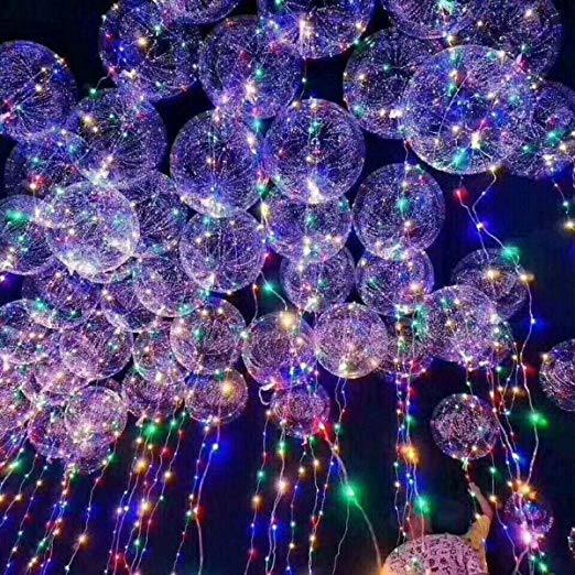LED Balloons Latest Design! 20 Inches 3 Modes Colorful Fairy LED Strings