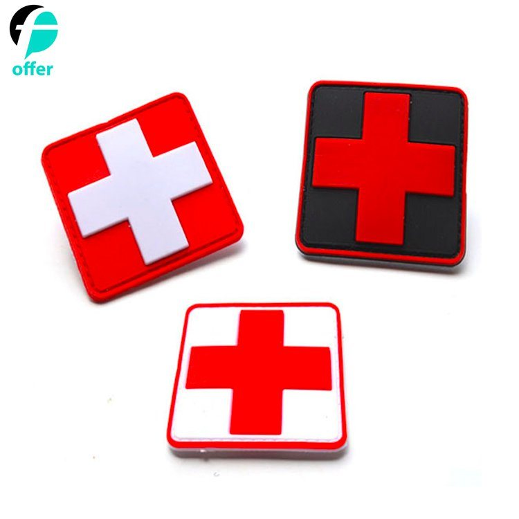 Rescue Medical Cross Soft PVC Rubber Patch