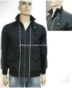 Men?s Long Sleeve Stand-up Collar Polyester Jacket (JK1295)