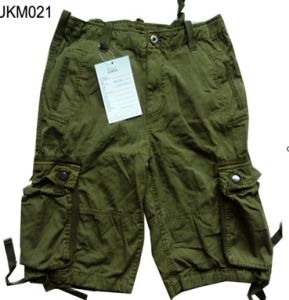 100%Cotton Stock Men?s Cargo Shorts