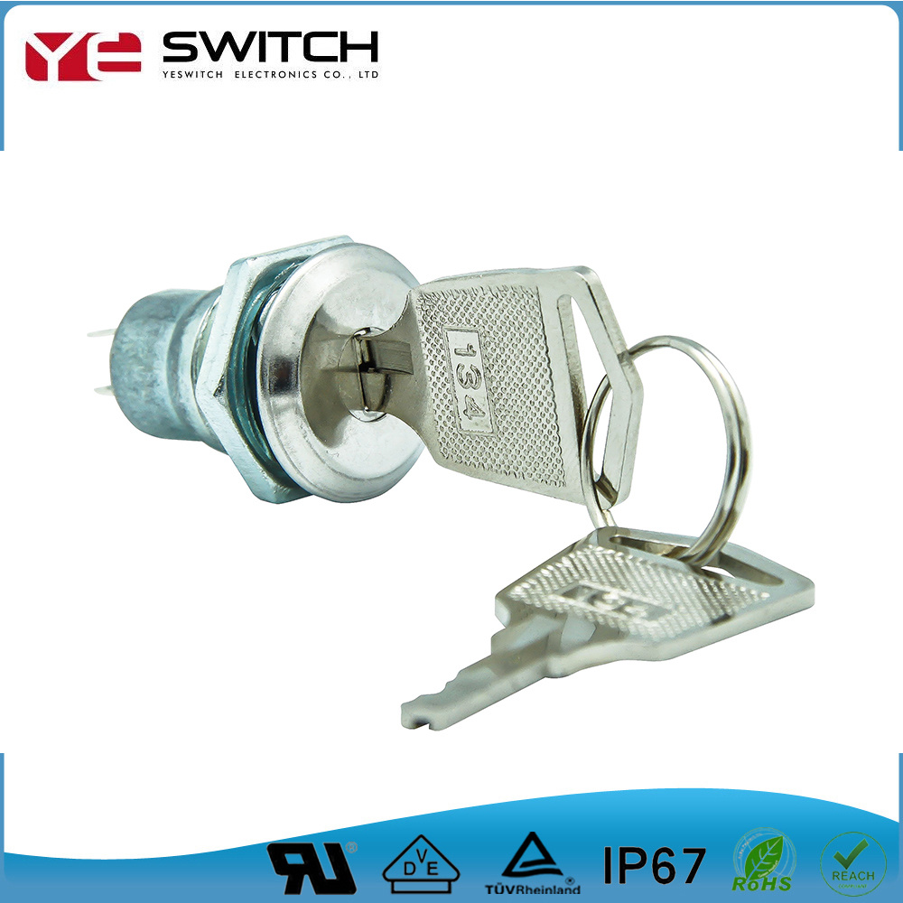 Electronic off on Locking Golden Terminal Key Lock Switch