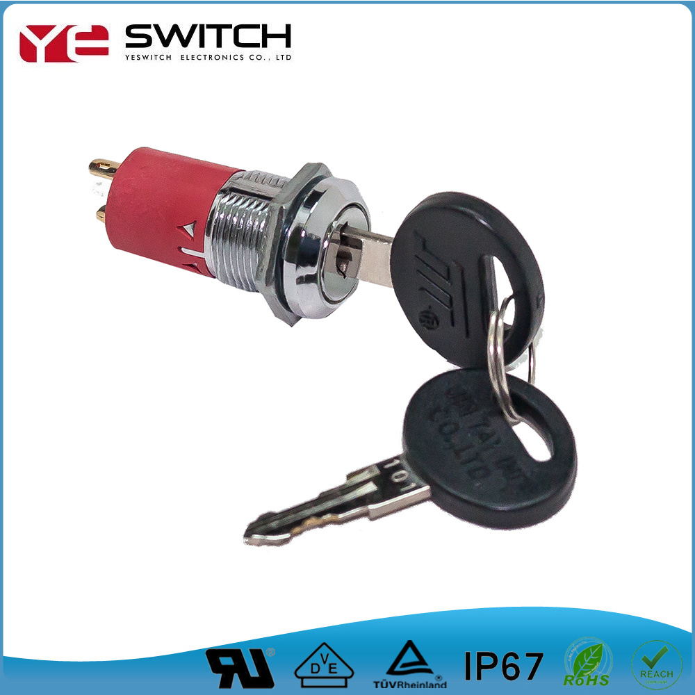 Durable 2 Position Silver Contact Switch Lock with UL Certificated