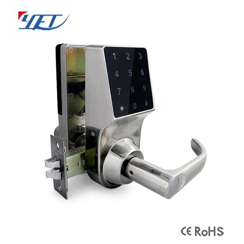 Wooden Door Zinc Alloy Password Digital Touch Screen Smart Door Lock