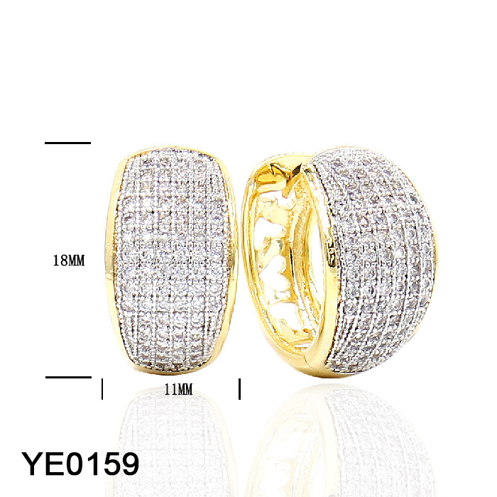 New Design Fashion 925 Sterling Silver or Brass Jewelry Cubic Zirconia Earrings for Women