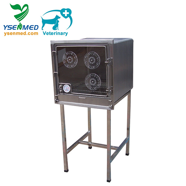 Ysvet610A Medical Hospital Clinic Top Quality Stainless Steel Veterinary Oxygen Cage