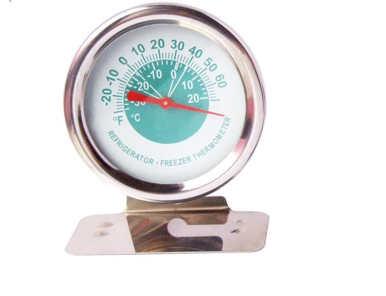 Dial Fridge Freezer Temperature Stainless Steel Refrigerator Thermometer