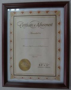 PS Certificate Frames
